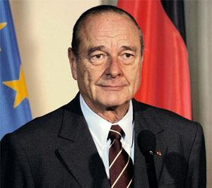 Il primo Presidente dell'Unione Atlantica, Jacques Chirac