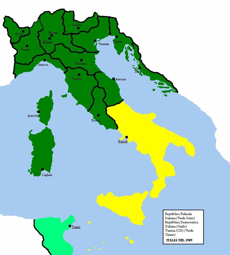 Cartina Italia Politica 1940.Ucronia Ma Milan L E Un Grand Milan