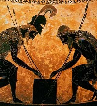 Pi che 39 l doppiar de li scacchi s immilla for Vaso greco a due anse
