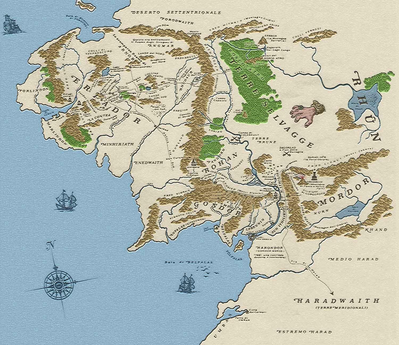 Cartina Del Mondo Con Meridiani E Paralleli.La Latitudine Di Gran Burrone