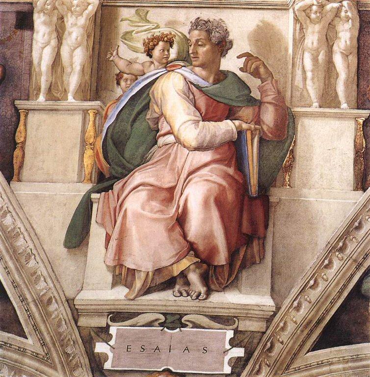 """Michelangelo, """"Il profeta Isaia"""", volta della Cappella Sistina (1508-1512)"""